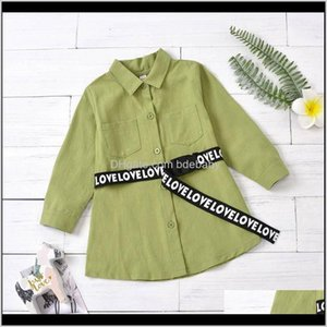 Baby, & Maternity Drop Delivery 2021 Girls Shirts Kids T Shirt Spring Autumn Cotton Long Sleeve Dress Belts Baby Clothing Children Wear 2-6T