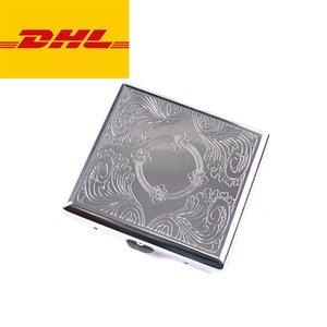 20 adet Metal Kapak Sigara Kılıfı Teneke Erkek Sigara Kutusu Paslanmaz Çelik Tütün Kılıfları Neme DHL Ücretsiz Navlun