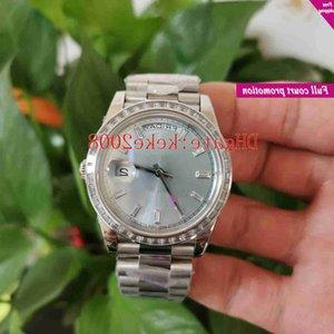 Ew fabricante homens relógios de pulso 40mm 228396 Diamante Dial Gelo azul 904L Sapphire Sapphire Luminescent Cal.3255 Movimento Mecânico Automático