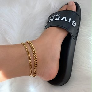 Classic Cuban Chain Women Anklet Stainless Steel Summer Beach Gold Color Foot Bracelet Anklet For Women Jewelry Gift