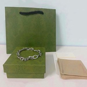 G Necklace Silver Chain Jewelry Love Bracelets Bangles Pulseiras Hollowed-out gifts for men and women wl