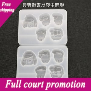 Overjoyed DIY crystal drop Snoopy expression making resin mold pendant decorative silicon