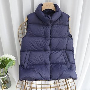SEDUTMO Winter Plus Size 3XL Thick Duck Down Vest Women Jackets Short Tunic Waistcoat Autumn Puffer Jacket Slim Parkas ED1252