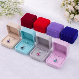 7*7*4cm Jewelry Packaging & Display Flannelette jewelry box flannelette fashion necklace box wholesale pendant box