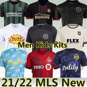 MLS 21/22 Новый футбол Джерси Интер Miami La Galaxy Los Angeles Atlanta United New York Portland Montreal Philadelphia 2021 LAFC Men Kids Kit