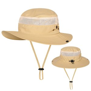 Outdoor Fishing Basin Caps Men Women Fisherman Hat Sunscreen UV Breathable Sunshade Hats Spring Summer Wide Brim Cap HHC7589