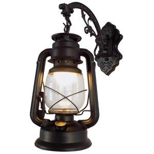 Wall Lamps E27 Kerosene Lamp Windproof Easy Install Sconce Outdoor Indoor Water Resistant Home Decor Motels Light Bronze El Retro