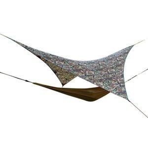 Shade Outdoor Patio Leisure Sunshade Canopy Camouflage Triangle Pergola Hiking Hammock Tent Tarp