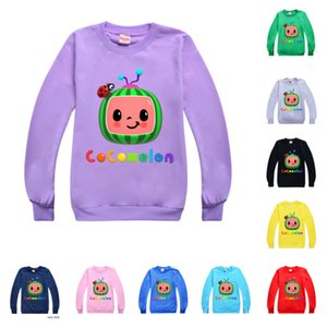 2021 Kids Cocomelon T-shirt Cartoon Boys Girls Round Neck Sweater Children Spring Summer Cany Color Hoodie toddler baby pullover G49NKA7