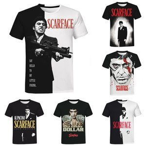 Movie Scarface 3D Print T-shirt Men Women Summer Fashion Casual Cool Tee Tops Tony Montana Print Harajuku Streetwear T Shirt L0324