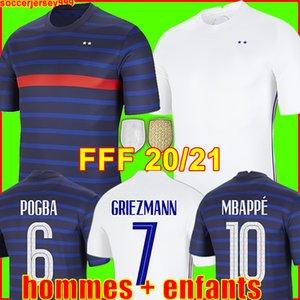 France Maillot de foot soccer jersey maillots de football Euro Cup 2021 21 22 Francais français Coupe d'Europe MBAPPE GRIEZMANN chemise de la équipe Hommes + enfants enfant kit