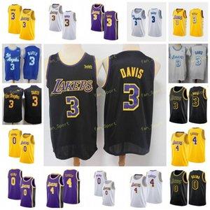 City Earned Edition Anthony 3 Davis Basketball Jerseys Kyle 0 Kuzma Alex 4 Caruso Men Stitched Size S-3XL