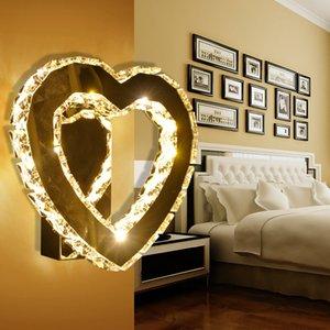 Modern Heart-shaped Wall light Luminous Luminaria Abajur wall light Home Lighting Avize Lamps Living Room Lights