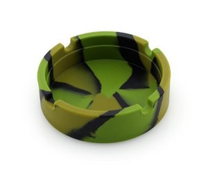 Cigarette Luminous Camouflage Silicone Round Ashtray Combo Pattern Bar el Gift Giveaway Smoking Accessories 261 V2 PPC7