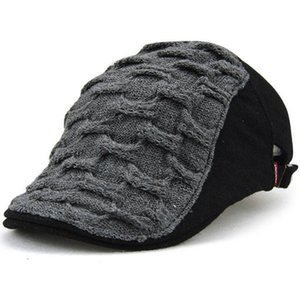 Knitted Wool Duckbill Hat Warm Newsboy Flat Scally Cap Warm Ivy Cabbie Drving Hunting Golf Mens Womens Winter Gatsby Snap Vintage Beret 8115