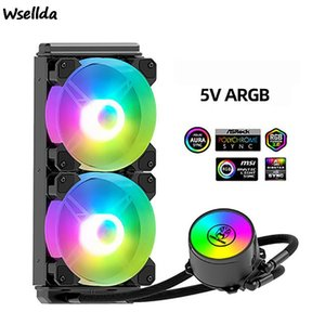 Fans & Coolings Hanyue RGB 240 Water-cooled CPU Radiator Integrated Dual-drainage Cooling Kit Multi-platform Watercooled PC