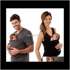Apparel Men'S Clothing Tees Polos T-Shirts Multi Function Tshirts Men Women Kangaroo Baby Carrier Tshirt Tops Summer 3Fjzk