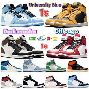 University blue 1s 4s baksetball shoes hyper royal patent bred toe 1 men women sneakers 4 black cat pure money white purple trainers