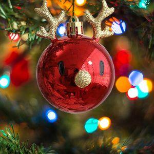 Novelty Items Christmas Tree Balls Pendant Ornaments Hanging Ball Plastic Decorations Home Holiday Navidad Year Decor Gift #50g