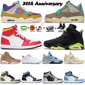 Jumpman 1 MID обувь 2021БаскетболОбувь 1s фиолетовый аква обсидианский серебряный носок высокий гипер королевский университет синий низкий unc женские кроссовки кроссовки