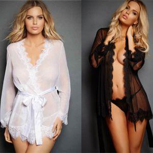 5Pcs set Sexy Pyjamas Lingerie Woman Erotic Pajamas Lace Sex ClothesLingerie hot Dress Transparent