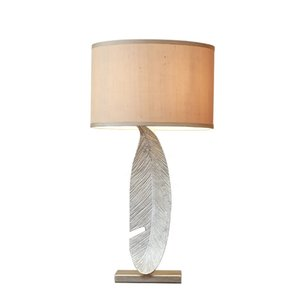 China Factory Manufacturer Modern Table Lamps for Bedroom with a Feather Body Shape Desk Reading Light for Style BedRoom