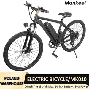 Electric Bicycle 26inch Mankeel smart scooter E-bike 120KG 10.4AH Battery 40KM Max Mileage CE RoHS UL FCC Certifications Poland Warehouse