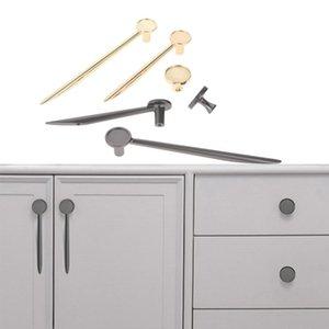 Handles & Pulls 1 Pc Zinc Alloy Single Hole Knobs Gold grey Cabinet Brooch Design Handle Hardware For Kitchen Furniture Drawer