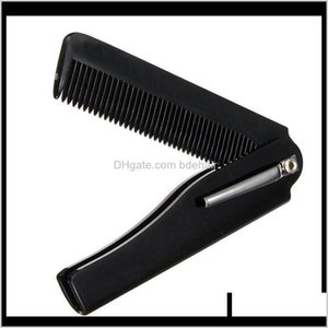 Brushes Care Styling Tools Products Drop Delivery 2021 1 Pcs Mens Womens Beauty Handmade Folding Pocket Clip Hair Moustache Beard Comb C3A0L