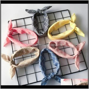 Apparel Fashion Plaid Dots Style Winter Cotton Washable Dog Bandanas Scarf Bowties Collar Pet Square Bib For Puppies Kitten Fbysh F0Njs