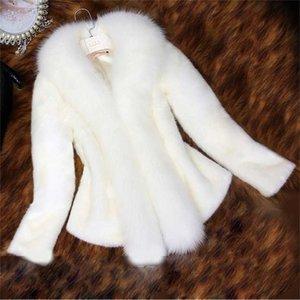 Winter Women Fur Coats White Black Thick Warm Faux Jacket Short Outerwear 211021