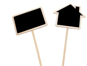 Plant Tags Marker Cute Shape Card Insertion Mini Blackboard Woodiness Arts And Crafts Originality Home Furnishing OOD6248
