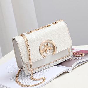 العلامات التجارية الشهيرة مصمم النساء جودة عالية الفاخرة حقيبة الكتف سلسلة حزام رفرف السيدات حقيبة جلدية رسول النحل