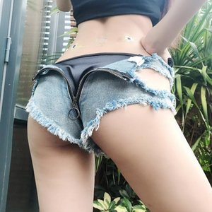 Women Sexy Denim Shorts Jeans Mini Micro Super Summer Booty Panties Skinny Casual Club Pole Dance Korean Short Feminino Women's