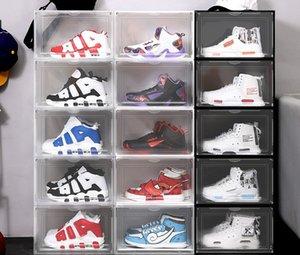 Утолщение четкие пластиковые спортивные ботинки обувь пылезащитные ящики для хранения прозрачные кроссовки стекаруемые загрузки Организатор внутренней коробки выставочный кабинет
