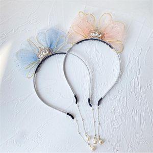 5pcs Lot 2021 Fashion Korea Style Pendant Pearl Earring Bow Hair Accessories Hairbands Crown Rhinestones Headbands For Girls
