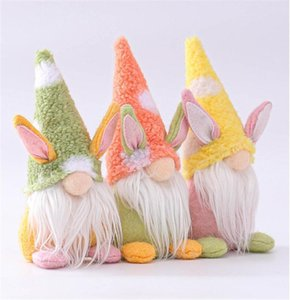 Favor Easter Bunny Gnome Handmade Tomte Rabbit Plush Toys Doll Ornaments Holiday Home Party Decoration Kids Gift