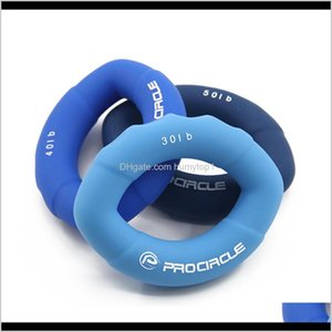 Grippers Equipments Fitness Supplies Sports Outdoors Procircle 6Pcs Lot Hand Gripper Grip Sile Ring Exercise For Forearm Wrist And Fin