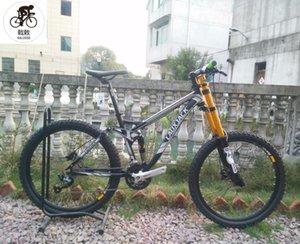 Kalosse M4000 Tam Süspansiyon Çerçevesi DH / Yokuş Aşağı Dağ Bisikleti 26 inç Bisiklet 27 Hız Alaşım Bisikletleri