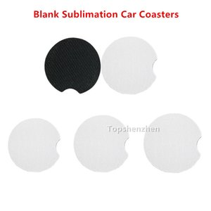 Blank Sublimation Neoprene Drink Holder Coasters For Car Cup Mugs Mat Contrast Home Decor Accessories 0CJ3