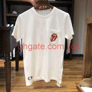 Summer American trend short sleeve t-shirt men's and women's tongue Sanskrit print designer style