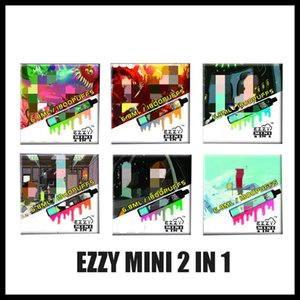 100% original Rick Morty Ezzy 2 en 1 Diseño de cigarrillos electrónicos Vape desechable 800mAh Batería 6.8ml POD 1800 Puffs Ezzy Mini 2in1 Vapes