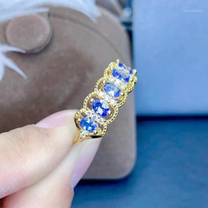 New Arrival Natural and Real Tanzanite Ring 925 sterling silver Fine jewelry New Design Natural and Real Tanzanite Ring1