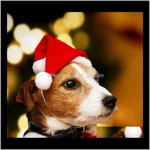 Apparel Supplies & Garden Drop Delivery 2021 Pets Hats Merry Christmas Decorations Home Cap Xmas Small Plush Santa For Pet Dog Cat Hat Happy