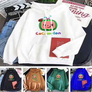2021 Cocomelon Hoodie Unisex Plush Fleece Sweater Hooded Pullovers for Children Teenages Adult Sport Tops Coat Cartoon Jacket LY10292