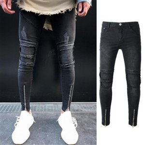 Мужские джинсы мужская одежда 2021 худой джинсовой джинс для дизайнера разорвал одежду KPOP