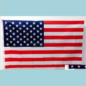 Banner Flags Festive & Party Supplies Home Garden American Flag - 3X5 Ft Higt Quality Nylon Embroidered Stars Sewn Stripes Sturdy Bras