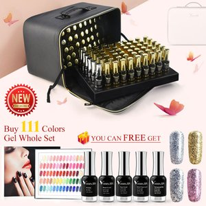60751K VENALISA 120pcs Nail Gel Polish Kit 12ml Platinum Primer Base Matt Top Coat Set Included Ship Cost