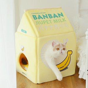 Strawberry Milk Banana Milk Cat Bed Cat House 1178 V2