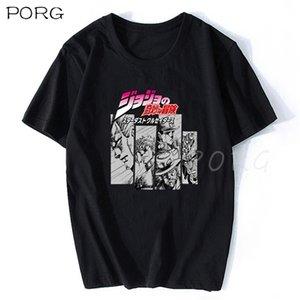 Jojos Bizarre 모험 빈티지 남자 만화 티셔츠 하라주쿠 streetwear 코튼 Camisetas Hombre Vaporwave 일본 애니메이션 셔츠 210714